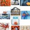 {Weddings} Baby Blue & Orange Inspiration Board