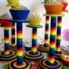 {DIY Daily} Cinco de Mayo Cupcake Stands