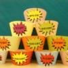{Free Printables} Superhero Cupcake Wrappers Template