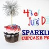 {DIY Daily} 4th of July Sparkler Cupcake Toppers