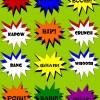 {Free Printables} Kids' Superhero 'Subway Art' Exclamations - POW!