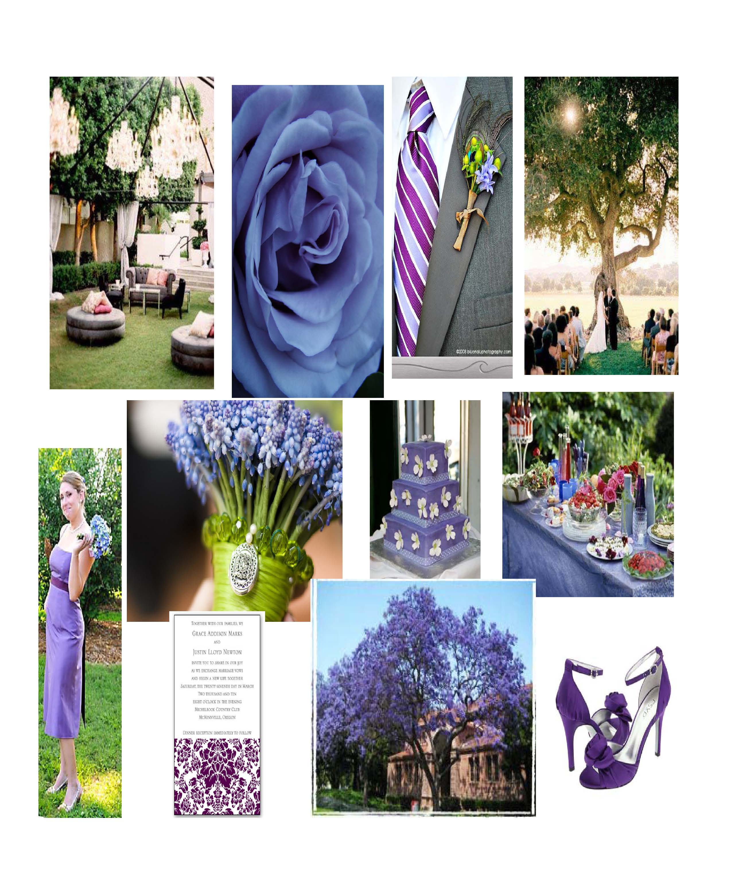 Weddings} Inspiring Ideas – Bluish Purple Garden Wedding | Your ...