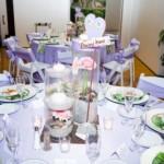 Beach Themed Wedding Centerpiece & Beach Sandals Table Name