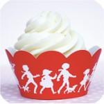 cupcake wrap red