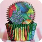 Green Garden cupcake wraps