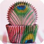 Peacock cupcake wrap