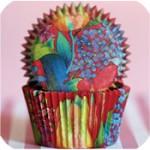 Red garden cupcake wrap