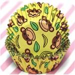 Ren monkey cupcake wrap