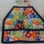 Kids Art Craft Activity Apron with bias tape