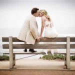La Jolla Beach Wedding Couple