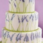 Lavender Wedding Cake by JollyBeBakery