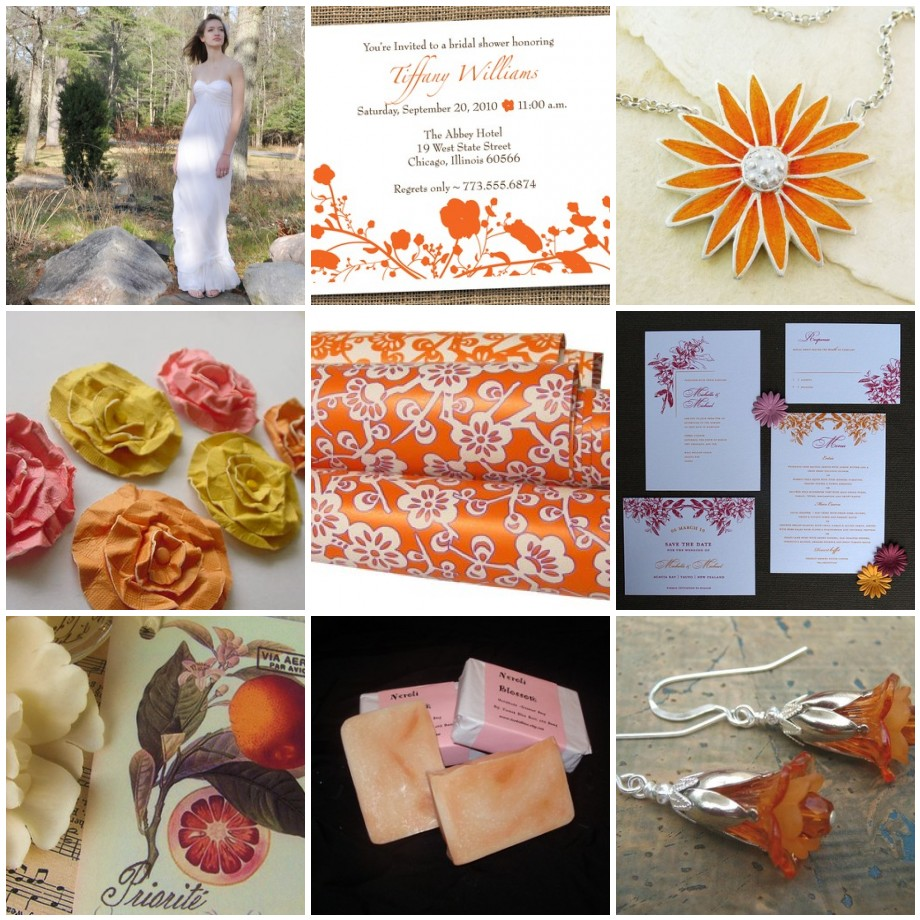 Orange Blossom Inspiration Board 1