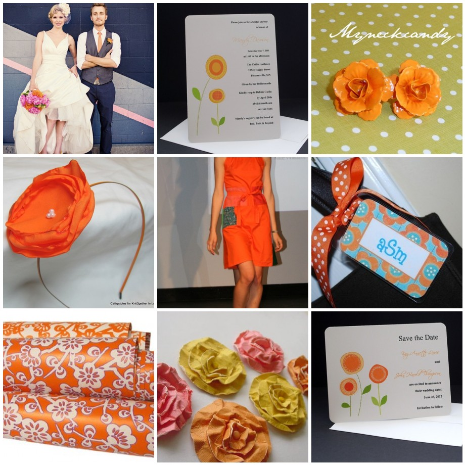 Orange Blossom Inspiration Board 2