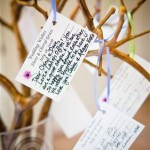 Wedding Decor Well Wisher Cards on Tree