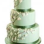 Green Garden Wedding Cake
