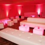 White Wedding Lounge Furniture; Pink & White Wedding; Wedding lounge
