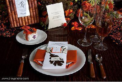 Wedding Table Accessories on Orange Wedding Table Decor