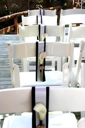 Beach Themed Wedding - Artsy Chair Decor