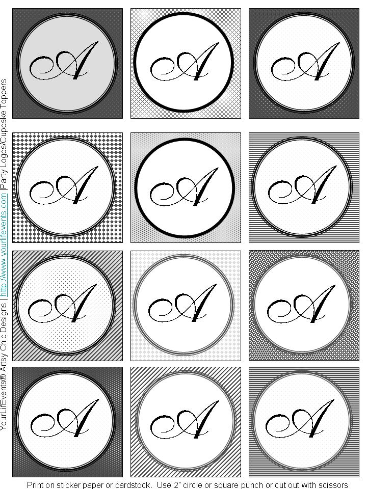 free printable monogram letter templates car tuning