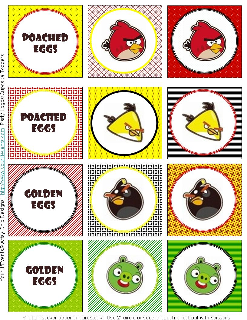Angry birds templates.