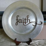 Faith Bronze on Silver Round