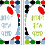 Cocktail Party Olive Dot Theme Happy New Year Sign
