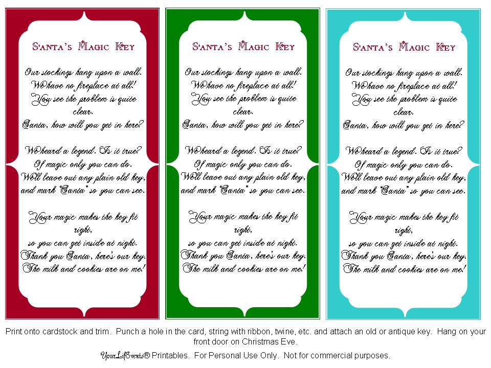 photograph relating to Legend of the Christmas Spider Printable called Free of charge Printable Santas Magic Solution Poem Free of charge Printable