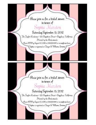 Example of Custom Personalized Invitation Sold Separately