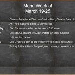 Weekly Menu 3 19 through 3 25