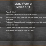 Weekly Menu 3 5 through 3 11
