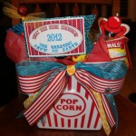 Close Up Of Popcorn Bucket with Carnival Inspired Printable