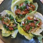 Quinoa Lettuce Cups with cheese & salsa fresca